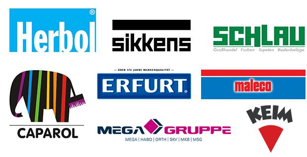 Logos aller Lieferanten für Tapeten