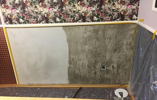 Beispiel für gemalte Wand in Betonoptik