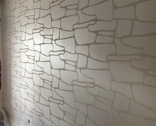 Weiß grau gemusterte Tapete, leicht schimmernd