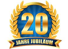 20-Jahre-Jubiläumssiegel