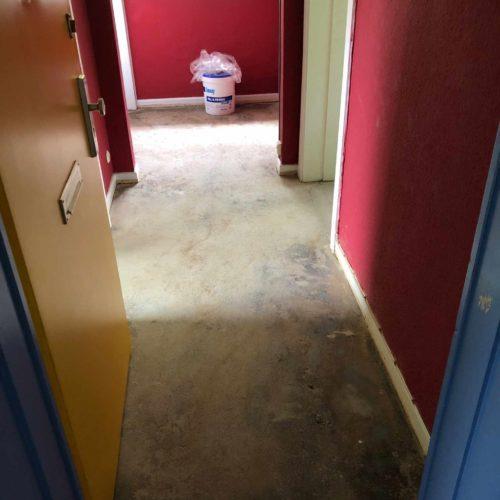 Entfernter Teppichboden