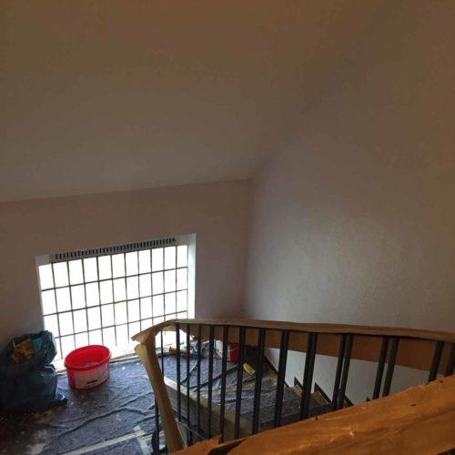 Treppenhaus während Sanierungsarbeiten