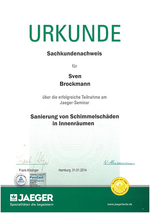 Urkunde brockmann