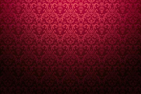 Rote Rankenmuster Tapete im Barockstil